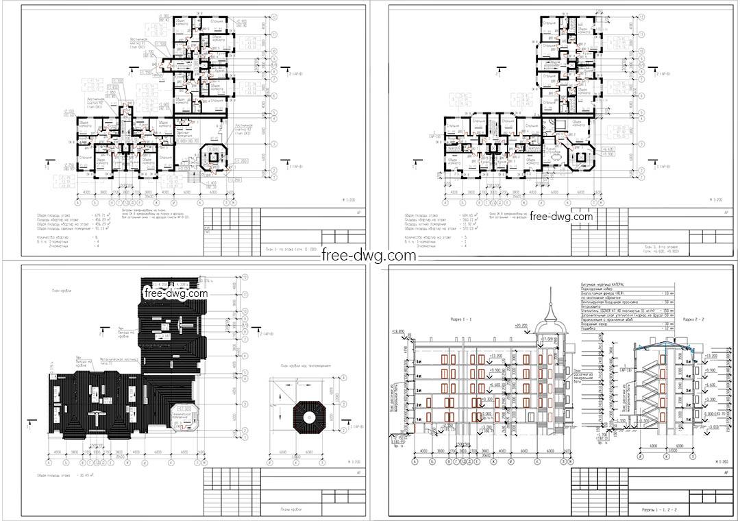 АР проект жилого комплекса