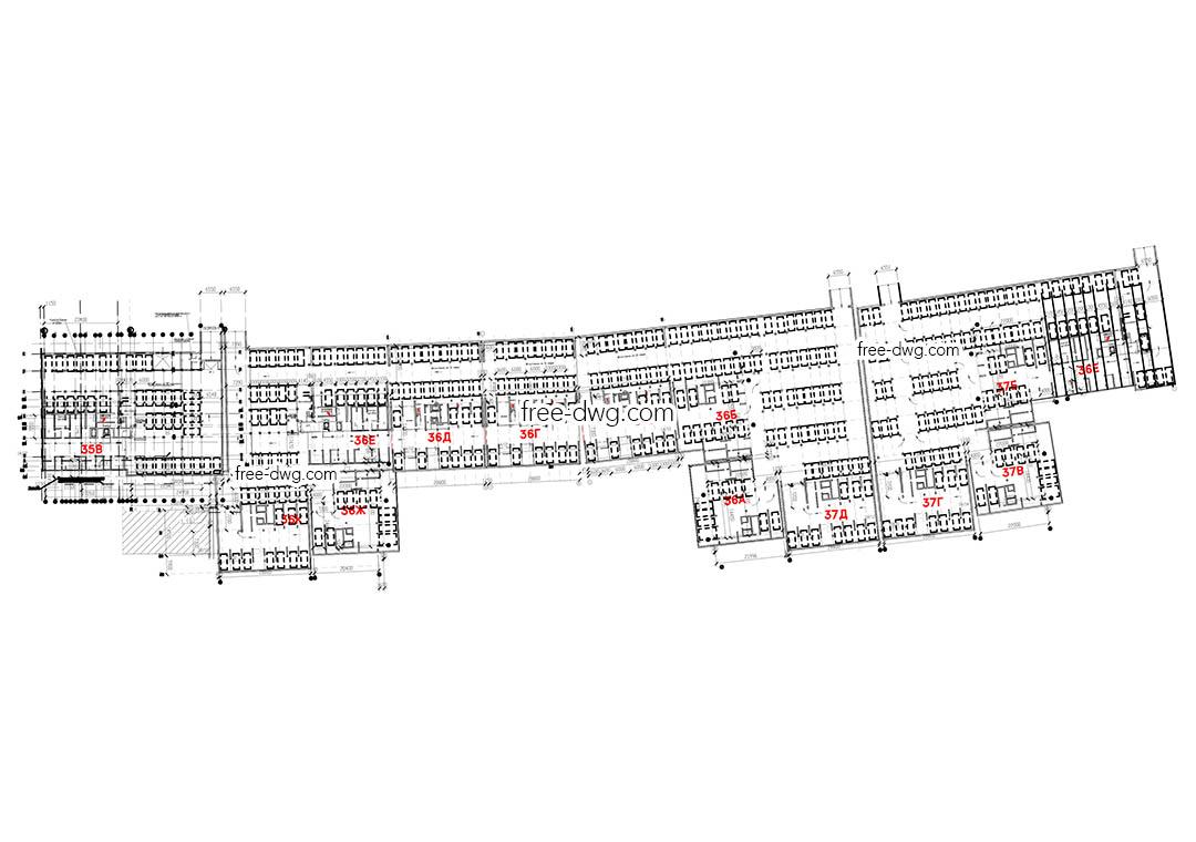 Схема подземного паркинга жилого комплекса